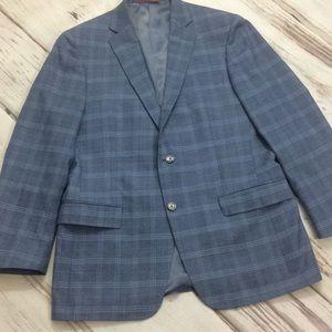 Hart Schaffer Marx men's suit jacket sport coat 42